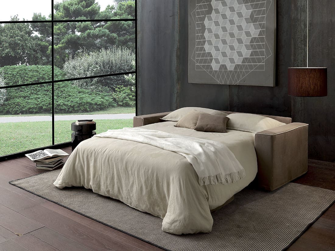 divano letto moderno boston aperto